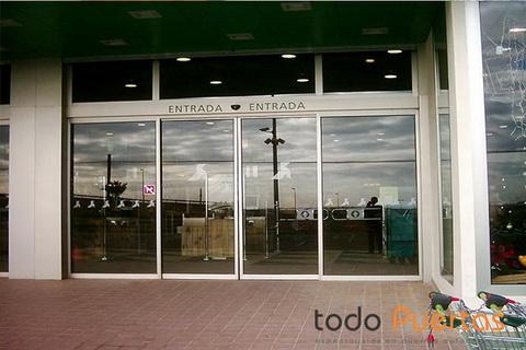 Puertas de vidrio autom ticas todo puertas e i r l for Puerta corredera automatica vidrio